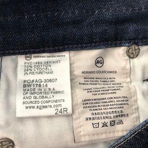 Ag Adriano Goldschmied Jeans - AG Jeans The Beau Slouchy Skinny Dark Crop Denim